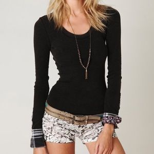 Free People We The Free Lou Flannel Cuff Thermal